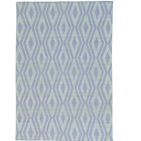 Reversible Flat Weave Killim Oriental Hand-Knotted Cotton Ivory Area Rug by Bloomsbury Market