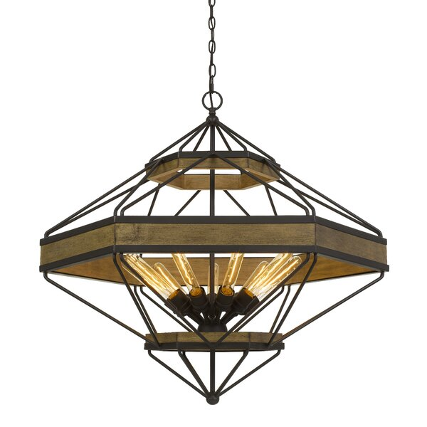 Meigs 9-Light Unique / Statement Geometric Chandelier by Millwood Pines Millwood Pines