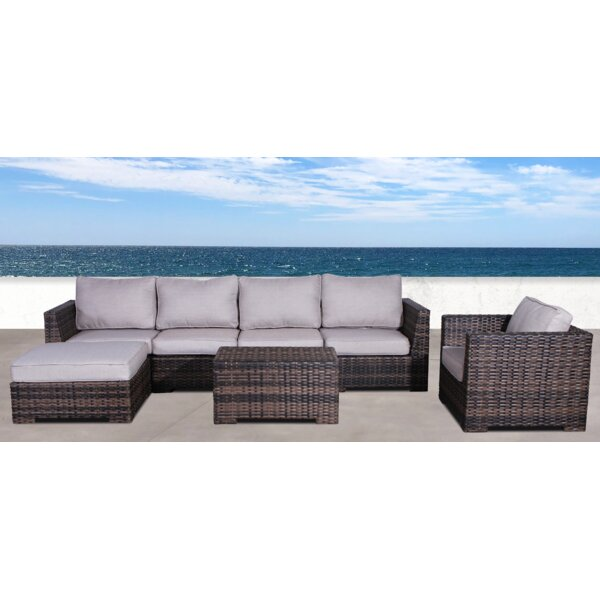 Letona Resort Club 4 Piece Sectional Seating Group with Cushions by Sol 72 Outdoor