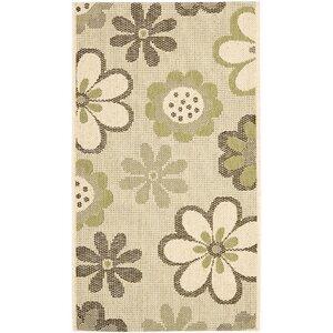 Short Natural Brown/Olive Outdoor Rug