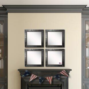 Find a Claireville Tuscan Ebony Wall Mirror (Set of 4) ByFleur De Lis Living