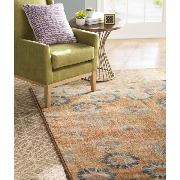 Studio in Bloom Orange Area Rug by Patina Vie