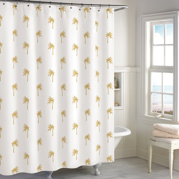 Windermer Palm Tree Cotton Shower Curtain by Bay Isle Home