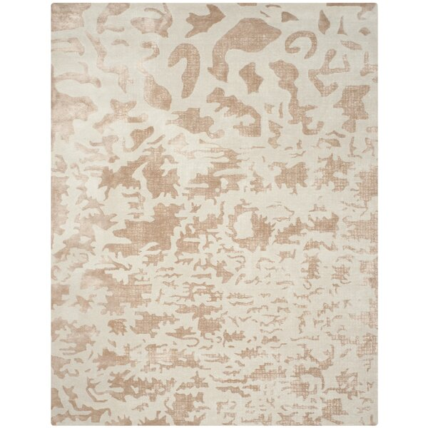 Beacon Hand-Woven Wool Ivory Area Rug by Mercer41