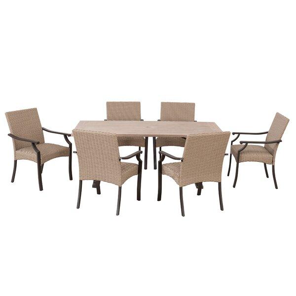Mercedes Outdoor 7 Piece Dining Set Bayou Breeze W001067305