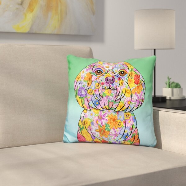 Maltese Throw Pillow by East Urban Home