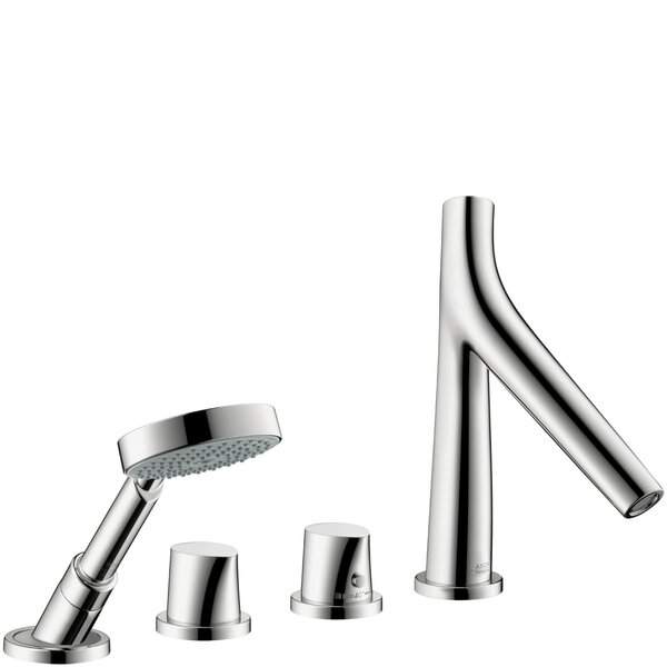 Axor Starck Organic Double Handle Deck Mounted Roman Tub Faucet with Handshower by Axor Axor