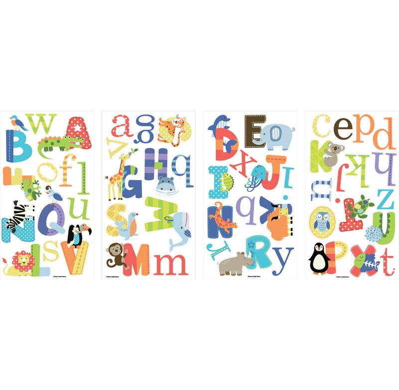 Animal Alphabet Nursery Wall Decal