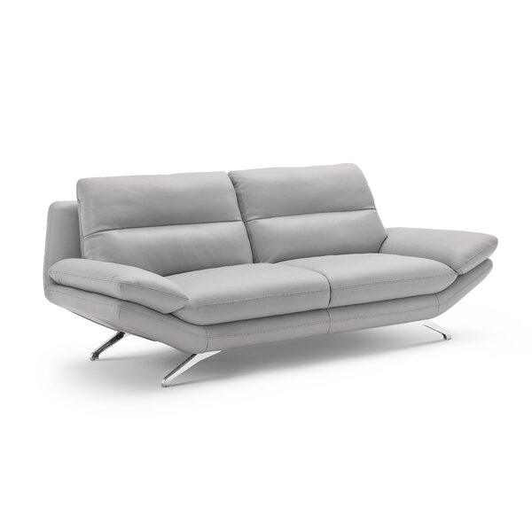 Brandonville Leather Sofa by Orren Ellis
