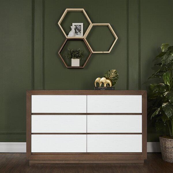 Maddox 6 Drawer Double Dresser by Evolur