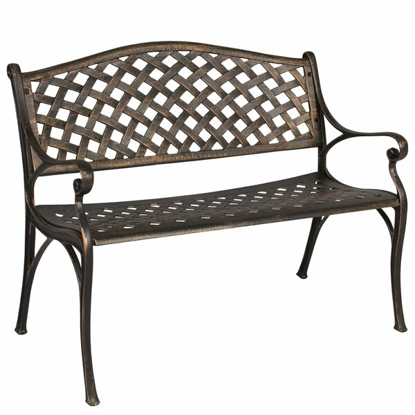 Huang Lattice Metal Garden Bench by Charlton Home