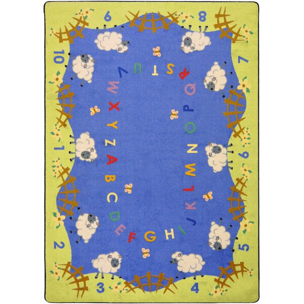 Hand-Tufled Blue/Green Kids Rug by The Conestoga Trading Co.