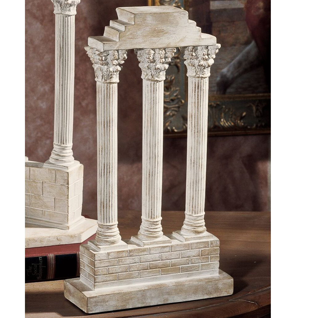 Design Toscano Roman Forum Temple Of Castor And Pollux Straight Column Sculpture Reviews