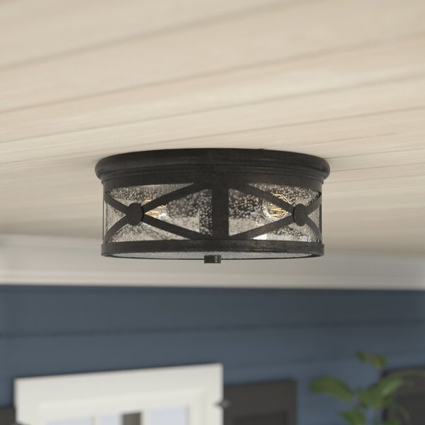 Burwood 2-Light Outdoor Flush Mount by Darby Home Co