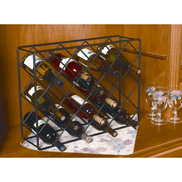 18 Bottle Tabletop Wine Rack by J & J Wire