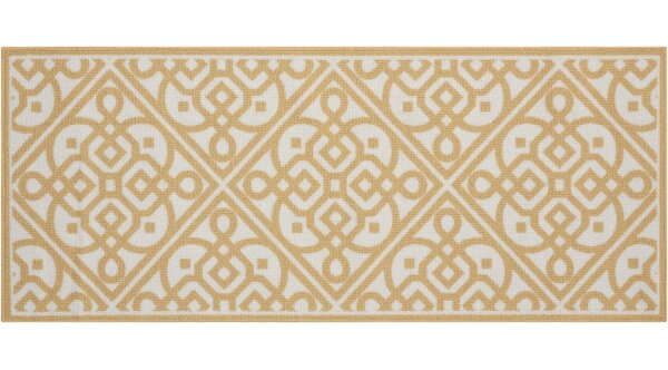 Fancy Free & Easy Lace It Up Gold Area Rug by Waverly