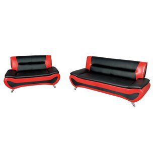 Mattapan 2 Piece Faux Leather Living Room Set by Wrought Studio™