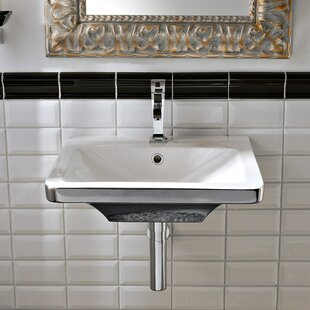 Compare & Buy Butterfly Ceramic Rectangular Vessel Bathroom Sink with Overflow ByScarabeo by Nameeks
