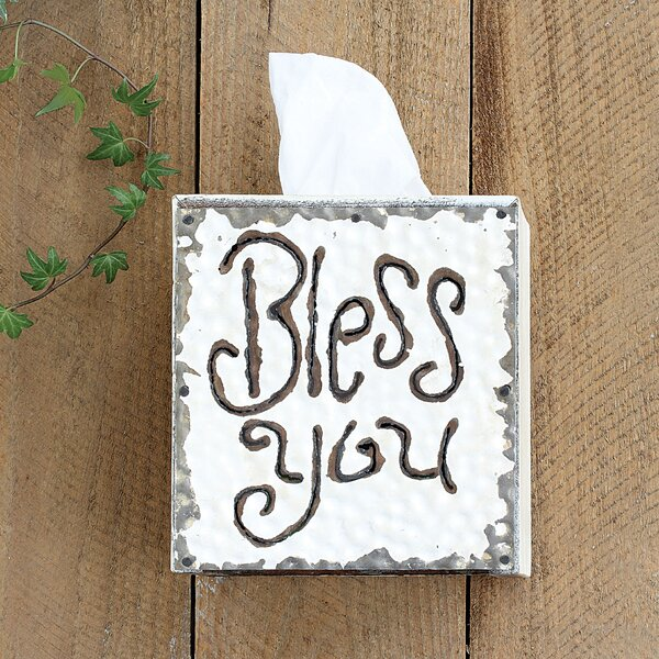 Farfan Bless You Tissue Box Cover by August Grove