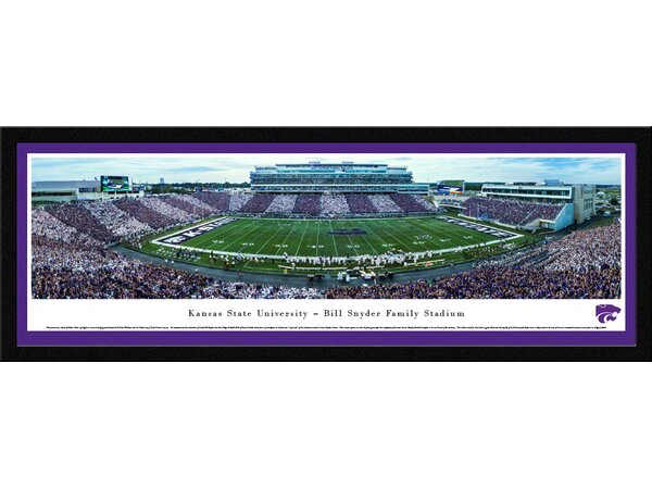 NCAA Kansas State University - 50 Yard Line - Stripe by Robert Pettit Framed Photographic Print by Blakeway Worldwide Panoramas, Inc