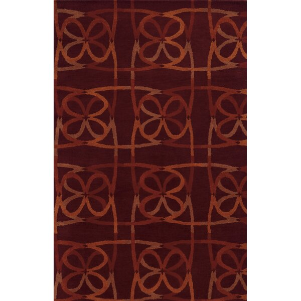 Ouistreham Hand-Tufted Brown Area Rug by Meridian Rugmakers