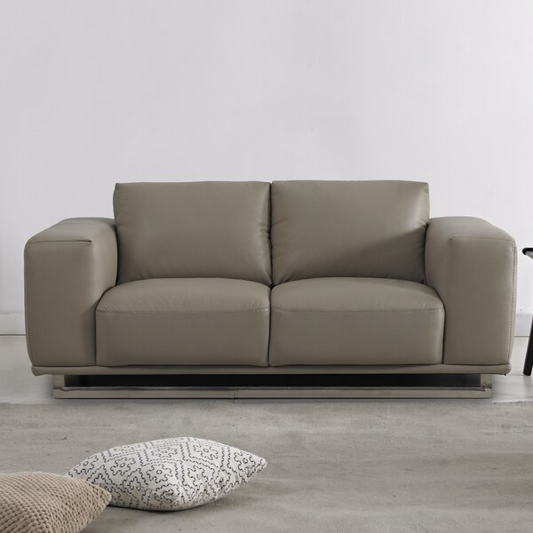 Leather Loveseat by David Divani Designs
