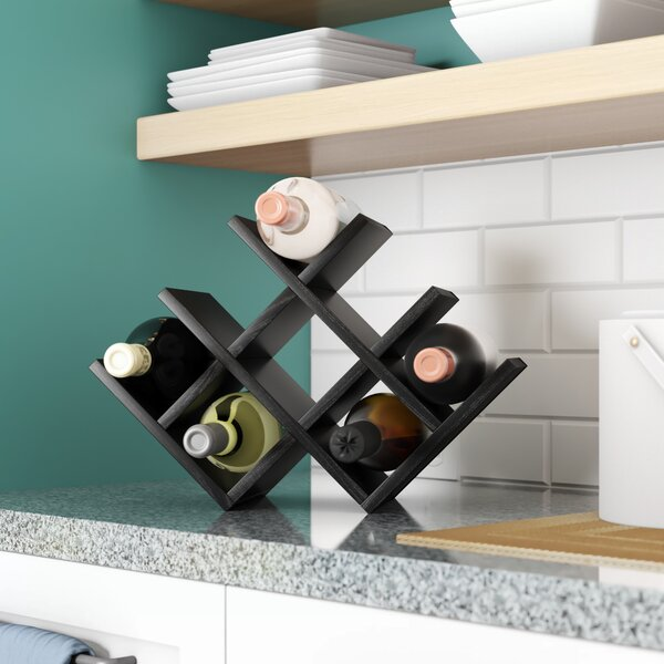 Butterfly 8 Bottle Tabletop Wine Bottle Rack By Kamenstein