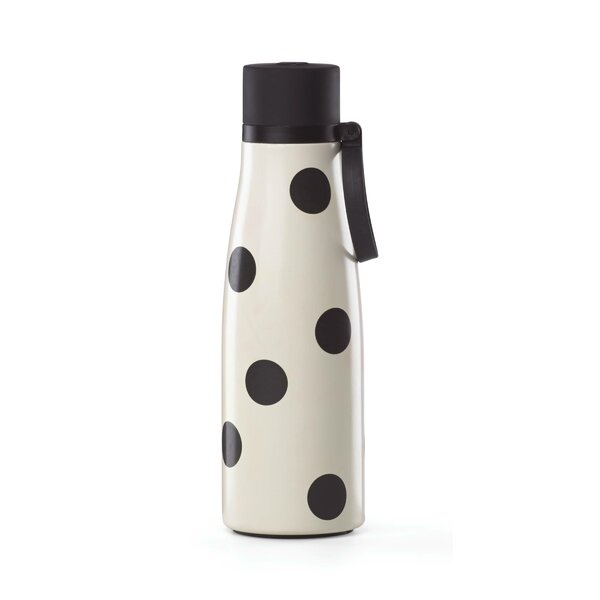 All in Good Taste Deco Dot 16 oz. Stainless Steel Water Bottle by kate spade new york