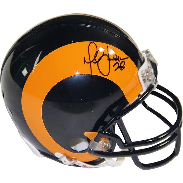 Decorative Marshall Faulk Signed St Louis Rams Mini Helmet by Steiner Sports
