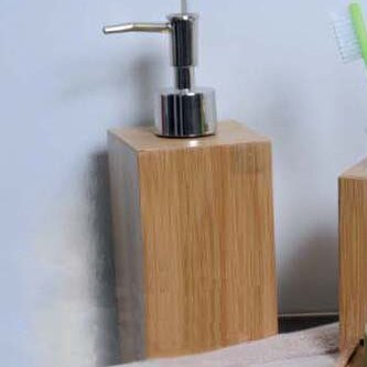Ecobio Square Bamboo Soap Dispenser by Evideco