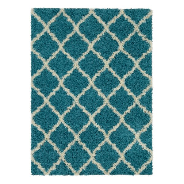 Blue Area Rug by Berrnour Home