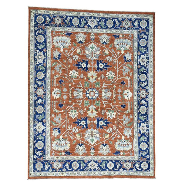 One-of-a-Kind Salzman Hand-Knotted Red Area Rug by Astoria Grand