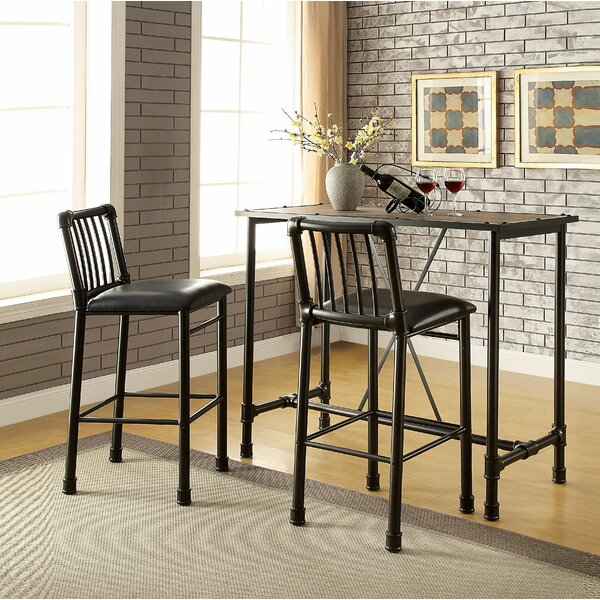 Elora 3 Piece Pub Table Set by 17 Stories