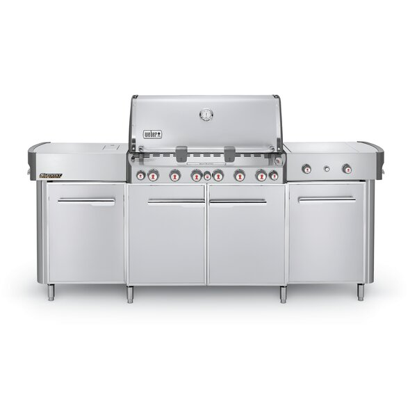 Summit® Grill Center 6-Burner Natural Gas Grill with Smoker by Weber