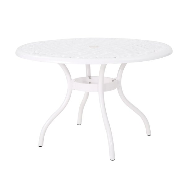 Danville Outdoor Aluminum Dining Table by Alcott Hill