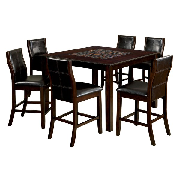 Amazing Delicia Mosaic Counter Height Dining Table By Latitude Run Cool