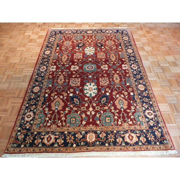 One-of-a-Kind Josephson Hand-Knotted Wool Rust Area Rug by Canora Grey