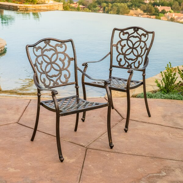 Pamplona Stacking Patio Dining Chair (Set of 2) by Home Loft Concepts