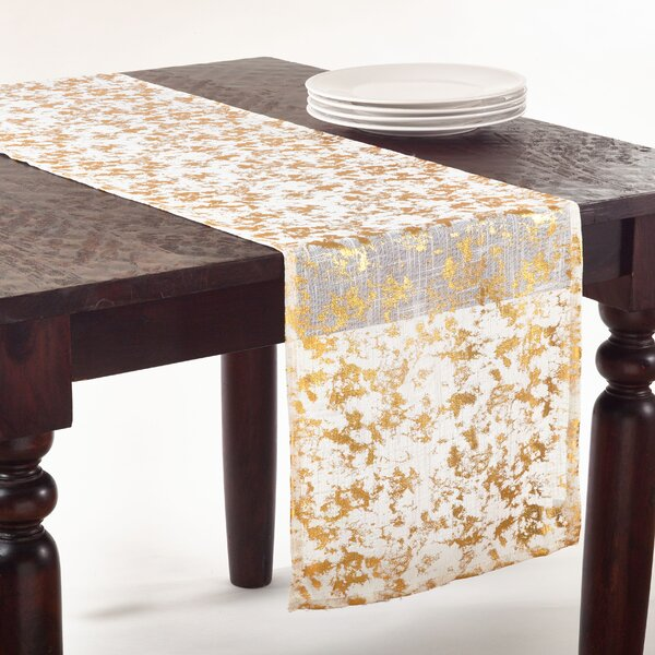 Foil Print Table Runner by Saro