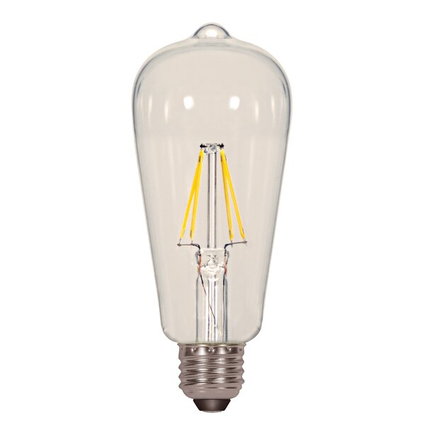 7W E26 Medium LED Vintage Filament Light Bulb (Set of 6) by Satco