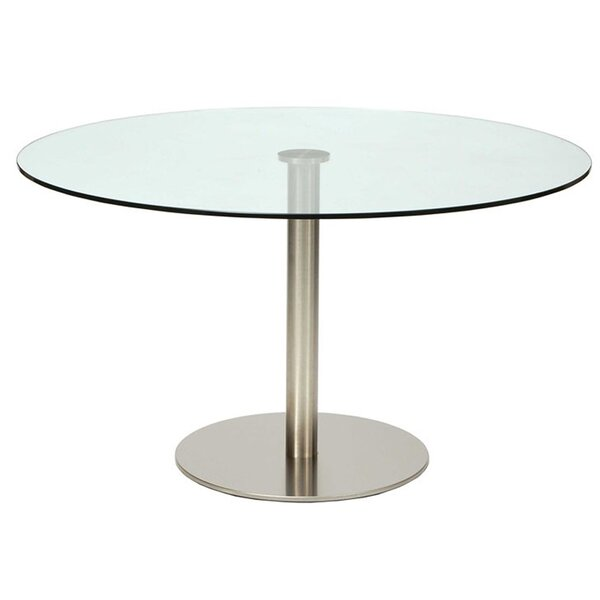 Amalienborg Round Glass Dining Table by Orren Ellis