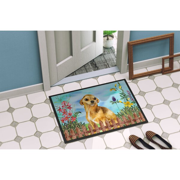 Chihuahua Spring Doormat by East Urban Home