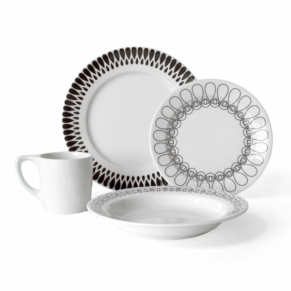 Ribbon 16 Piece Dinnerware Set, Service for 4 by notNeutral