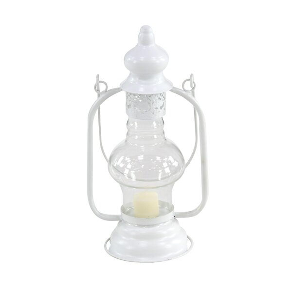 Traditional Glass Lantern by Ophelia & Co.