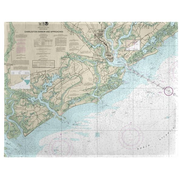 Charleston Harbor and Approaches, SC 18 Placemat (Set of 4) by East Urban Home