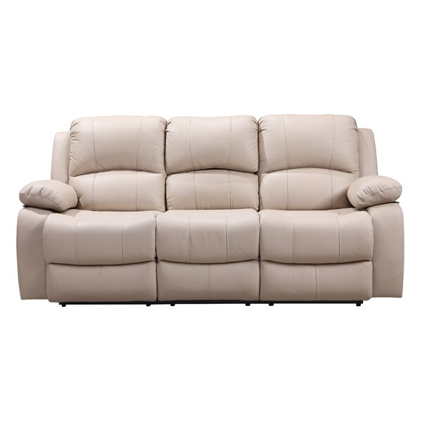 Timmerman Leather Reclining Sofa By Red Barrel Studio