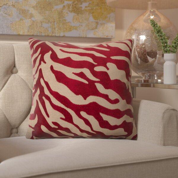Kaler Eye-Catching Zebra Throw Pillow by Willa Arlo Interiors