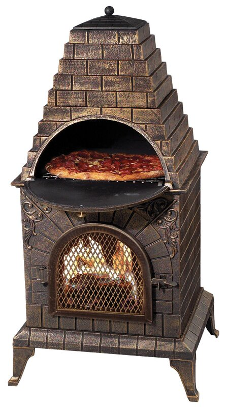 Deeco Aztec Allure Pizza Oven Outdoor Fireplace & Reviews | Wayfair