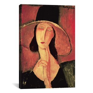 'Portrait of a Woman (Jeanne Hébuterne)' by Amedeo Modigliani Painting Print on Wrapped Canvas by iCanvas