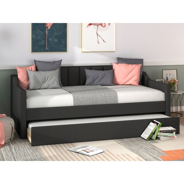 Agata Twin Solid Wood Daybed with Trundle by Everly Quinn Everly Quinn